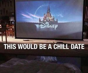 date, disney, and love image