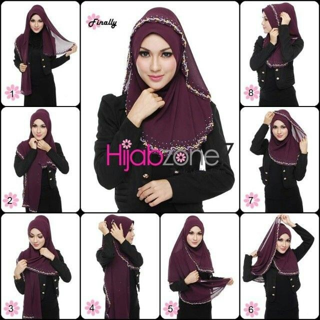 24 Images About Tutorial Hijab On We Heart It See More About Hijab Hijab Tutorial And Islam