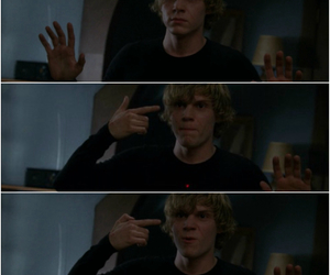 evan peters, ahs, and murder house image