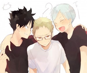 haikyuu, tsukishima kei, and kuroo tetsurou image