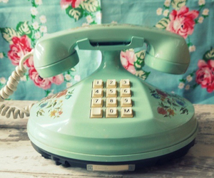 telephone, vintage, and phone image