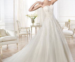 wedding dress, bridal gown, and Pronovias image