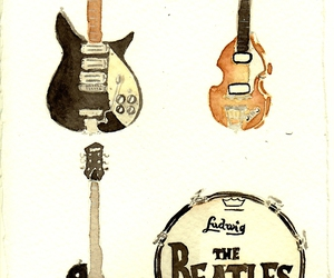 the beatles and guitar image