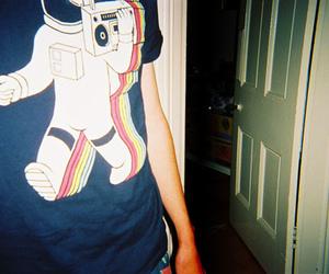 boy, door, and shirt image