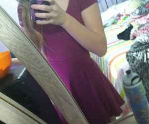 dress, red, and room image