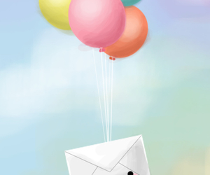 balloons, art, and cute image