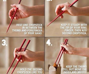 chopstick, steps, and tips image