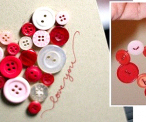 love, heart, and buttons image