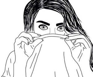 grunge, black and white, and drawing image