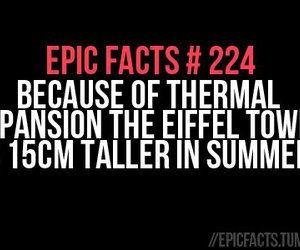 eiffel tower, summer, and epic facts image