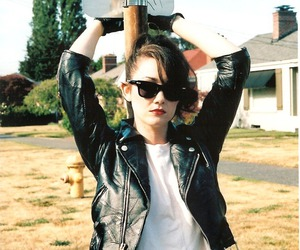 greaser, fashion, and leather jacket image