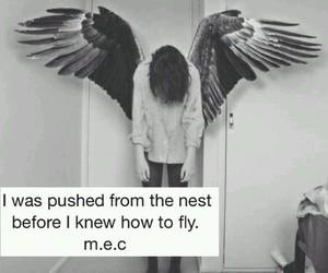 sad, angel, and fly image