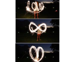fireworks, infinity, and heart image