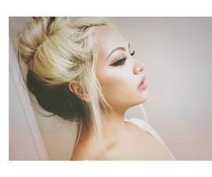 hair, girl, and makeup image
