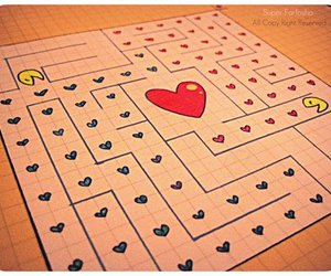 game, heart, and maze image
