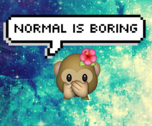 normal, boring, and monkey image