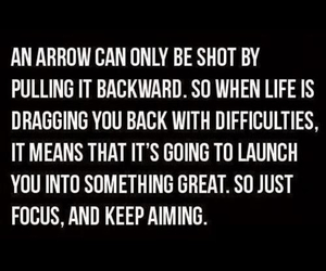 quotes, life, and arrow image