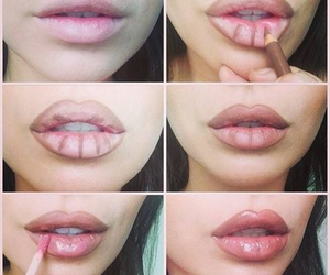 big lips, make up, and sexy image