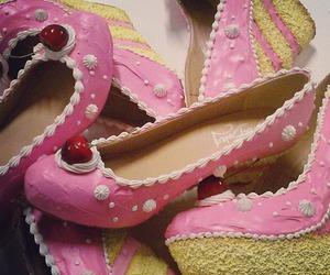 cake, shoe, and sweet image