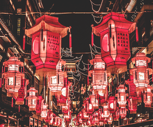 china, light, and red image