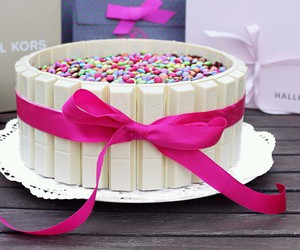 bow, delicious, and cake image