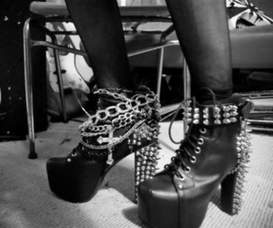 shoes, spikes, and studs image