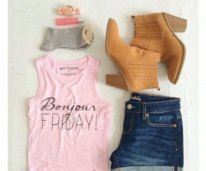 boots, pink, and weekend image