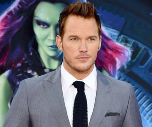 chris pratt, starlord, and guardians of the galaxy image
