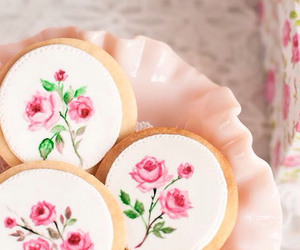 Cookies, flowers, and pink image