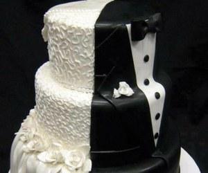 cake, wedding, and bride image