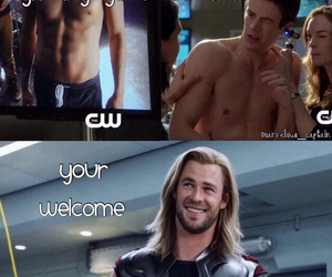 thor, the flash, and abs image