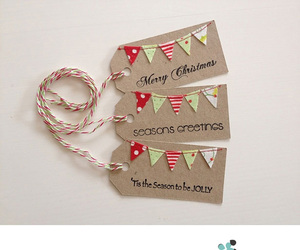 bunting, gift, and wrap image