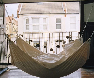 bed, hammock, and white image