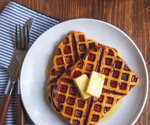 food, waffles, and pumpkin image