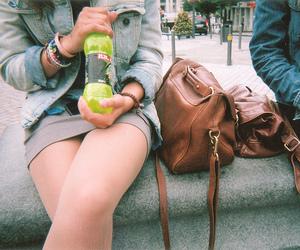 girl, bag, and vintage image