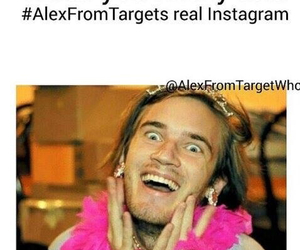 funny, pewdiepie, and alex from target image
