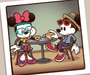 hipster, mickey, and minnie image