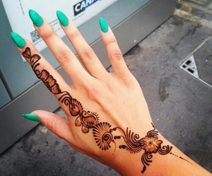 nails, fashion, and henna image