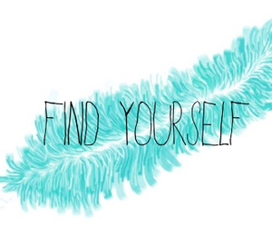 blue, feather, and find yourself image