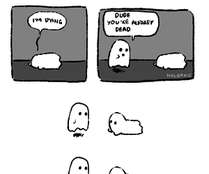 ghost, funny, and dead image