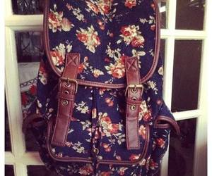 flowers, bag, and vintage image