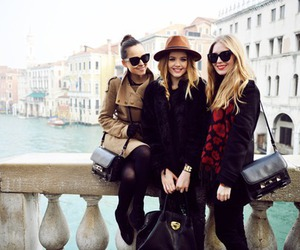 fashion, girl, and friends image