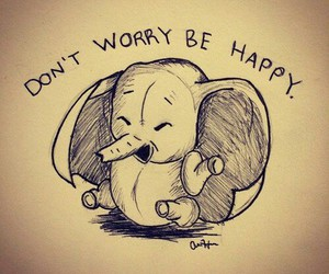 cute, elephant, and happy image