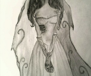 art, corpse bride, and dark image