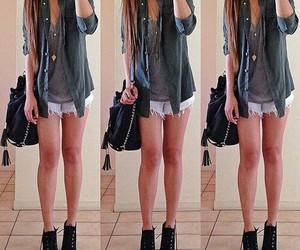 bag, shoes, and clothes image