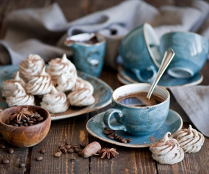 coffee, food, and blue image