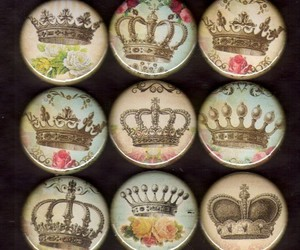 antique, beautiful, and crowns image