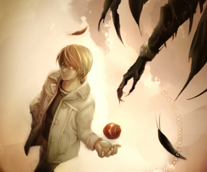anime, light yagami, and death note image