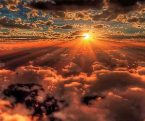 god, nuvens, and orange image