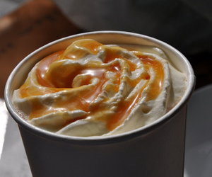 drink, caramel, and food image